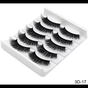 3D mink flax lashes 5 pairs